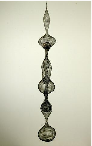 Ruth Asawa Untitled,1959 H. 93 in. Collection of Oakland Museum of California, gift of the Women's Board of the Oakland Museum Association A59.74