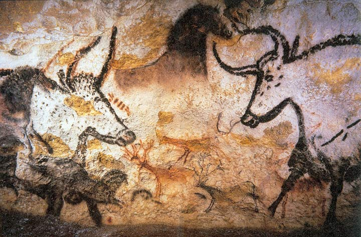 Photography of Lascaux Cave Painting, Professor saxx.